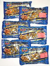 6 Large 8 oz Bags KC Ginger Mint Hard Candy, Soothes Nausea Migraines Crohns