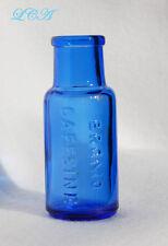 Small ANTIQUE nice COBALT BLUE color BROMO CAFFEINE head ache QUACK CURE bottle