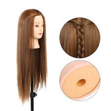 26cm Salon Training Mannequin Synthetic Hair Hairdressing Practice Head Model