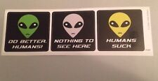 Do Better Humans Nothing To See Here X-Files Alien Bumper Sticker Funny