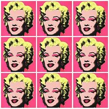 FANTASTIC MARILYN MONROE POP ART COLLAGE CANVAS #3 XXL PICTURE 76X76 ANDY WARHOL