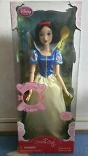 "Disney Store Shop Snow White Singing Doll 17"" Rare"