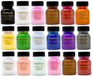 MEHRON LIQUID MAKEUP_FACE,BODY,HAIR PAINT SPECIAL FX_COLOR STAGE MAKEUP 1OZ !!!!