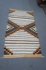 "Vintage Southwest American Kilim Rug Hand Woven Weaving Wool 29"" x 55"""