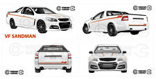 Holden VF - SANDMAN UTE WHITE # 01 - Sticker 4 LARGE STICKERS