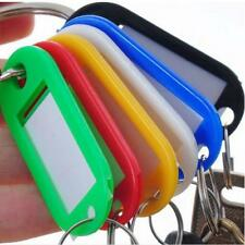 5PCS KEY TAGS ASSORTED KEY RINGS COLOURED PLASTIC ID TAGS NAME/ID CARD FOB LABEL