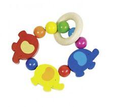 Greifling Elastik Elefanten, Babyspielzeug aus Holz
