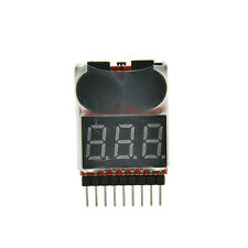 RC Lipo Battery Low Voltage Alarm 1S-8S Buzzer Indicator Checker Tester LED T pv