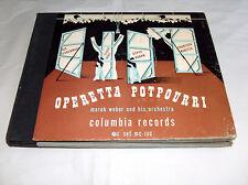 Columbia Records Marek Weber Orchestra Operetta Potpourri Record Album Set MC100