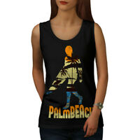 Wellcoda Beach Surf Sun Holiday Womens Tank Top, Miami Athletic Sports Shirt