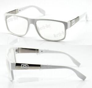 Mens Womens Clear Lens Square Eye Glasses Fashion Designer Wrap Frame Optical RX