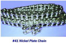 41 Nickel Plate Chain, 4 ft. Nickel Plate Chain, Go Kart/ Mini Bike Chain