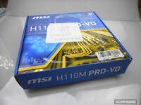 MSI Mainboard H110M PRO-VD LGA1151 2x DDR4 PCI-E 3.0 DVI-D, VGA 4x SATA, BULK