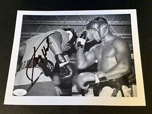 Larry Holmes Signed Type 1 Boxing Photo JSA COA Vintage Boxing Auto Action Shot