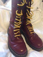 14 HOLE Cherry red Doc Martens 14 eyelet Oxblood Boots  size 7 uk - eu 41 - US 8