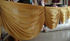 Gold wedding backdrop swags decoration 20ft length swags for stage background