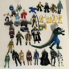 34 Piece Junk Drawer Toy Lot: Star Wars, Chap Mei, Dc Comics Super Heroes & More