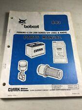 Bobcat 843 Skid Steer Loader Parts Manual
