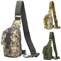 Tactical Mens Sports Chest Bag Shoulder Messenger Outdoor Small Cross Body Bags