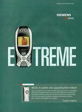 Publicité 2003  Téléphone mobile SIEMENS MC 60 appareil photo intégré