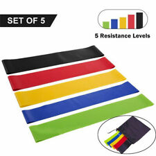 *NEW* RESISTANCE BANDS LOOP 5 SET - Home Workout Exercise Glutes Yoga Pilates