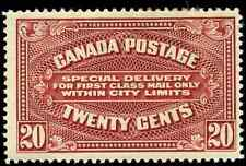 Canada #E2 mint F-VF OG HR DG 1922 Special Delivery 20c carmine Dry Printing