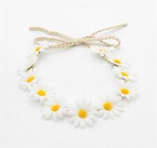 White Wedding Bridal Daisy Flower Headband Garland Bridesmaid Boho Hair Band