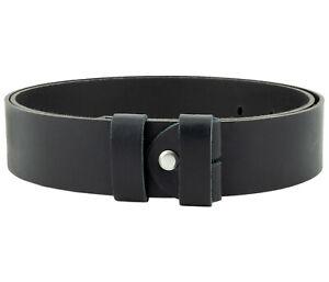 Echt Ledergürtel 4 cm ohne Schnalle Wechselgürtel Leder Schwarz Wechsel Gürtel