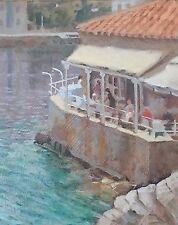 """Original michael richardson huile """"omnilos, Hydra"""" île Grecque Mer Peinture"""