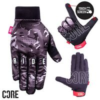 CORE Touch Screen Gloves Cycling/BMX/Bike/MTB/Motocross - Black Camo