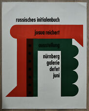 Nurnberg Galerie # JOSUA REICHERT, Russische initialenbuch # signed ca 1965, nm+