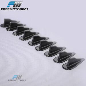 10pc Paintable EVO Style Roof Shark Fins Spoiler V Type Generator Universal Fits