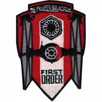 """Star Wars Tie Fighter Squadron, First Order (3.5"""") Embroidered Patch -new"""