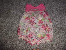 RABBIT MOON 6-9 FLORAL ROMPER OUTFIT