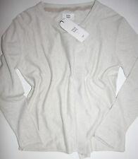 Noa Noa Strickjacke Langarm Basic Cotton Melange  Silver Gray size: XS Neu