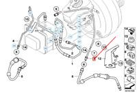 BMW 1 E81 Freno Anteriore Tubo 34326853505 6853505 Nuovo Originale