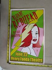 MB 2003 Rock Roll Concert Poster Blonde Redhead Michael Motorcycle S/N LE 100