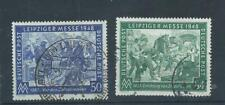 Germany stamps Allied Occupation 1948 Leipzig Spring Fair pair used.   (F473)