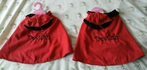 New 2 Claire's  Red Devil Dog / Big Cat  Costume Halloween size L 2 costumes
