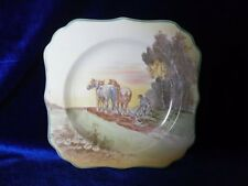 **SUPERB** Royal Doulton 'Ploughing' Horses Plate (D5650)