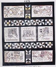 Woman's Work Week - fun pieced & stitchery quilt PATTERN - Bobbie G Designs