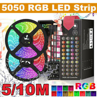 5/10M Flexible LED Light Strip 5050 RGB Indoor Decorate Use Remote Power  i
