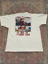Vintage 90's Calvin & Hobbes Indy 500 Single Stitch Shirt