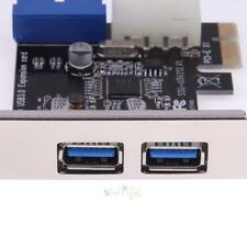 2Port USB3.0 + Internal 19pin Header PCI-E Expansion Card 4pin IDE Power Conn
