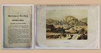 Molkenkurort Streitberg Fränkische Schweiz Wiesenthal 1878 mit Farblithografie