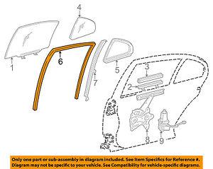 68142-30200 Toyota Run, rear door window, rh 6814230200