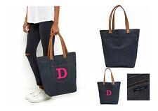New Look Bag Personalised Tote Bag Denim Tote Bag ANY INITIAL Denim Shopper