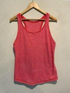 Lululemon Athletica Women's Tank Top Size 4-6 Light Red/Pink Athleisure Run EUC