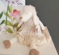 Lottie Lamb Chops Cream Sheep Soft Toy - Free Gift bag Easter New Baby