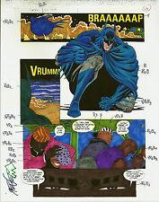 BATMAN SEDUCTION OF THE GUN PRODUCTION ART ORIGINAL PG #12 SIGNED STEVE MATTSSON